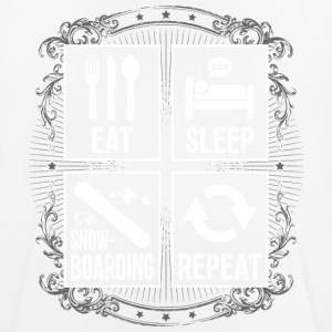 EAT SLEEP REPEAT SNOWBOARD - T-shirt respirant Homme
