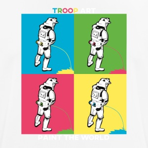 Troop Art - Stormtrooper auf Pop-Art Party - Männer T-Shirt atmungsaktiv