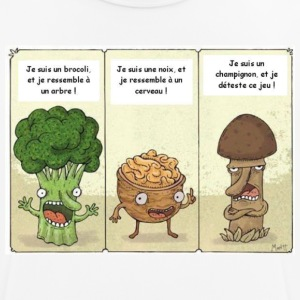 Joke between vegetables - Men's Breathable T-Shirt