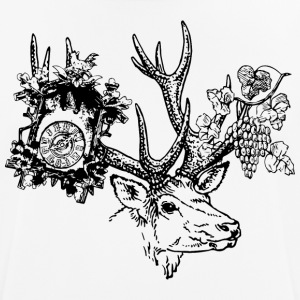 Deer with clock and grapes - Men's Breathable T-Shirt