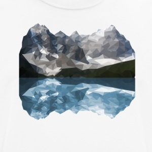 Bergen Low Poly - mannen T-shirt ademend
