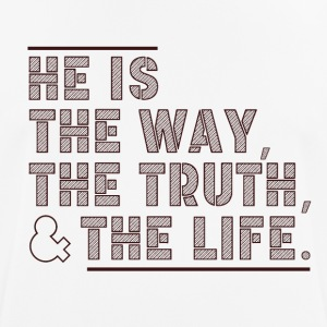 The Way - The Truth - The Life - mannen T-shirt ademend