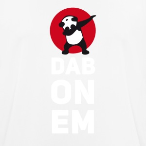 dab on em dabbing panda football touchdown mooving - Men's Breathable T-Shirt