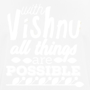 With Vishnu All Things are Possible - White - Men's Breathable T-Shirt