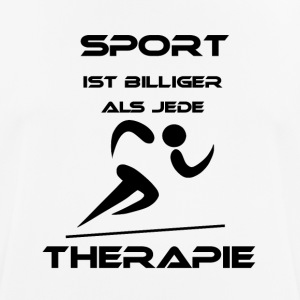 Sport is cheaper than any therapy - Men's Breathable T-Shirt