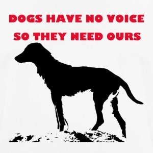 TS_dogs have no voice1 red - Men's Breathable T-Shirt