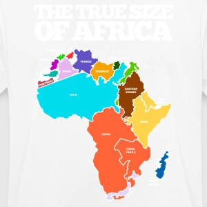 THE TRUE SIZE OF AFRICA - Men's Breathable T-Shirt