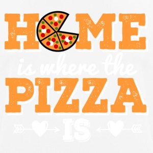 HOME is where the PIZZA is - Men's Breathable T-Shirt