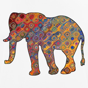 Colorful Elephant on a t-shirt - Men's Breathable T-Shirt