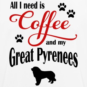 Great Pyrenees Coffee - Men's Breathable T-Shirt