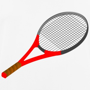 tennisracket - mannen T-shirt ademend