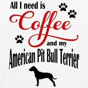 My Coffee and My American Pit Bull Terrier - Männer T-Shirt atmungsaktiv