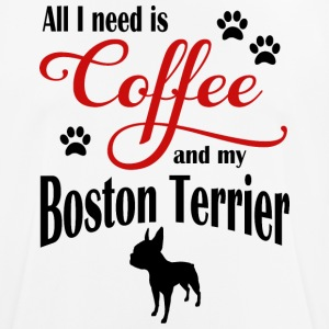 Boston Terrier Coffee - Men's Breathable T-Shirt