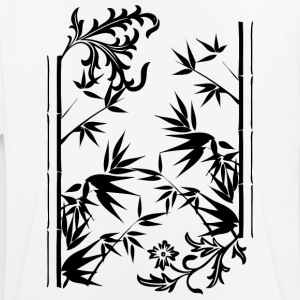 Floral bamboo blak - Men's Breathable T-Shirt
