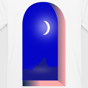 window on the moon - Men's Breathable T-Shirt