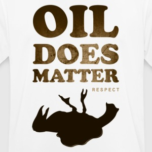 Oil does matter bird - mannen T-shirt ademend