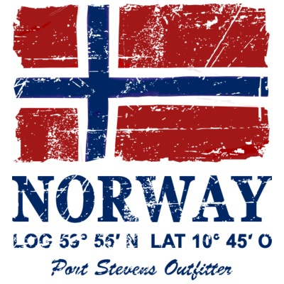 Norway Flag - Vintage Look