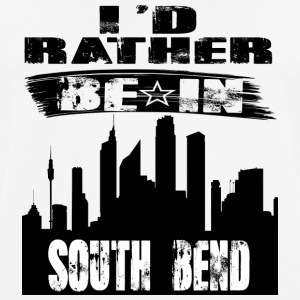 Geschenk Id rather be in South Bend - Männer T-Shirt atmungsaktiv