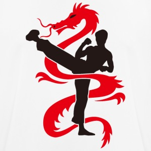 SHADOW OF THE DRAGON | Rouge et Noir. - T-shirt respirant Homme