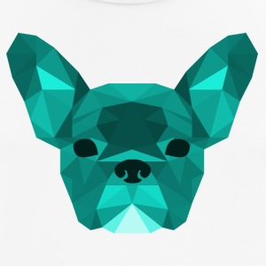 Lav Poly Frenchie cyan - Herre T-shirt svedtransporterende