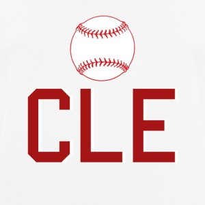 Cleveland Baseball Throwback CLE - Pustende T-skjorte for menn
