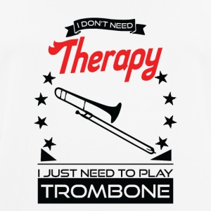 Trombone - better than therapy - trombonist gift - Men's Breathable T-Shirt