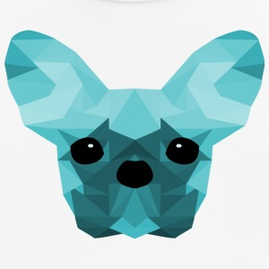 French Bulldog ciano Low Poly design - Maglietta da uomo traspirante