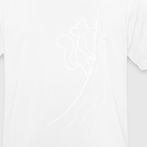 Squirrel - white - Men's Breathable T-Shirt