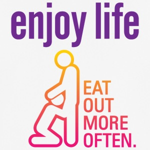 Enjoy Life. Eat Out More Often! - Men's Breathable T-Shirt