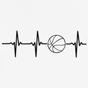My heart beats for basketball - Men's Breathable T-Shirt