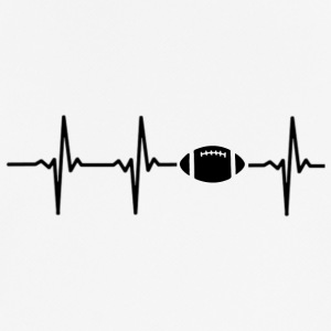 My heart beats for football - Men's Breathable T-Shirt