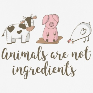 Animals are not Ingredients - Men's Breathable T-Shirt