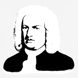 Johann Sebastian Bach abstract in black and white - Men's Breathable T-Shirt