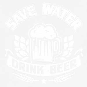 Funny Beer Party Shirt Save Water - Pustende T-skjorte for menn