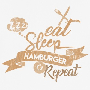 EAT SLEEP HAMBURGER REPEAT - Herre T-shirt svedtransporterende