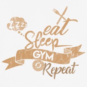EAT SLEEP REPEAT GYM - Herre T-shirt svedtransporterende