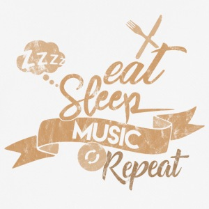 EAT SLEEP MUSIK REPEAT - Herre T-shirt svedtransporterende