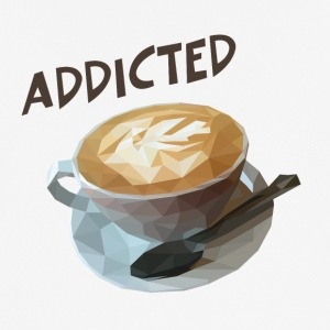 coffee addiction - Andningsaktiv T-shirt herr