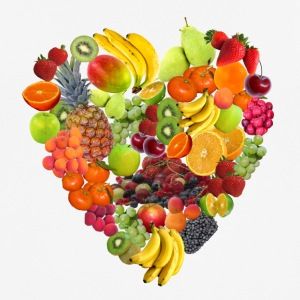 Fruits - Heart - mannen T-shirt ademend