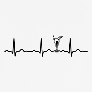 EKG HEARTBEAT COCKTAIL Sort - Herre T-shirt svedtransporterende