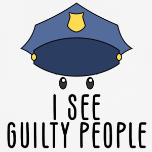 Police: I see guilty people - Men's Breathable T-Shirt