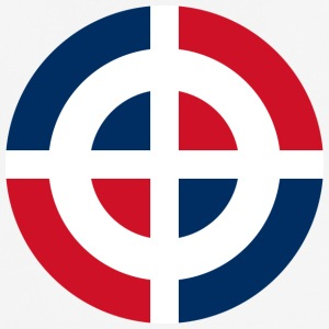 Roundel of the Dominican Republic svg - Men's Breathable T-Shirt