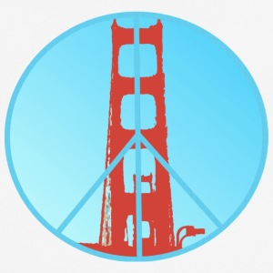 Golden Gate Peace - Herre T-shirt svedtransporterende