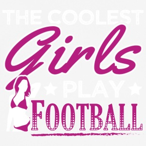COOLEST GIRLS PLAY FOOTBALL - Men's Breathable T-Shirt