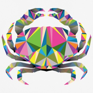 Geometric Crab - Men's Breathable T-Shirt