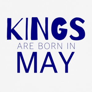 Kings are born in May: Birthday - Men's Breathable T-Shirt