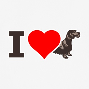 I LOVE dachshund RAUHAARDACKEL iloveteckel - Men's Breathable T-Shirt