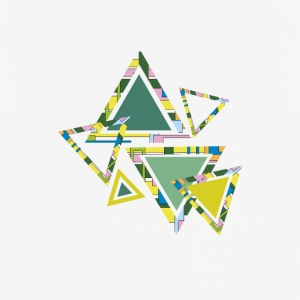 Abstract green triangles - Men's Breathable T-Shirt