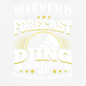 WEEKEND PROGNOSE DJing - Herre T-shirt svedtransporterende