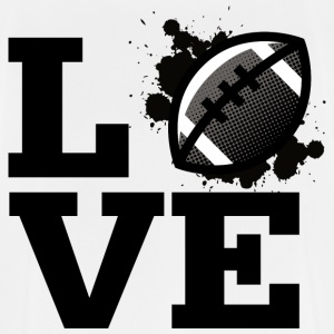 Love - American Football - Männer T-Shirt atmungsaktiv